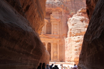 My first glimpse of Petra's famed Treasury