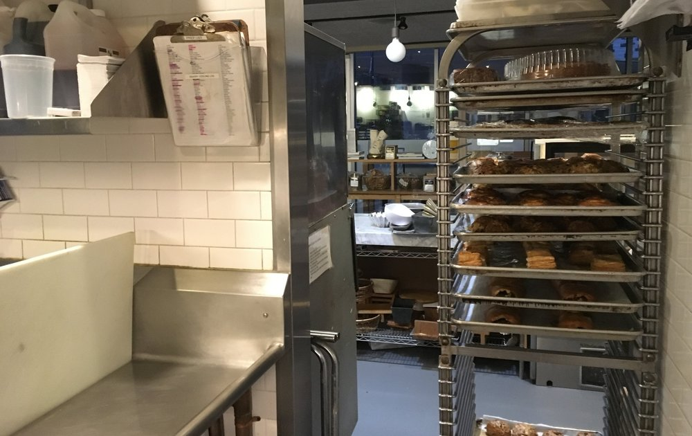 Behind the scenes at Flour, before opening.