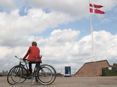 Med cykler på det havn